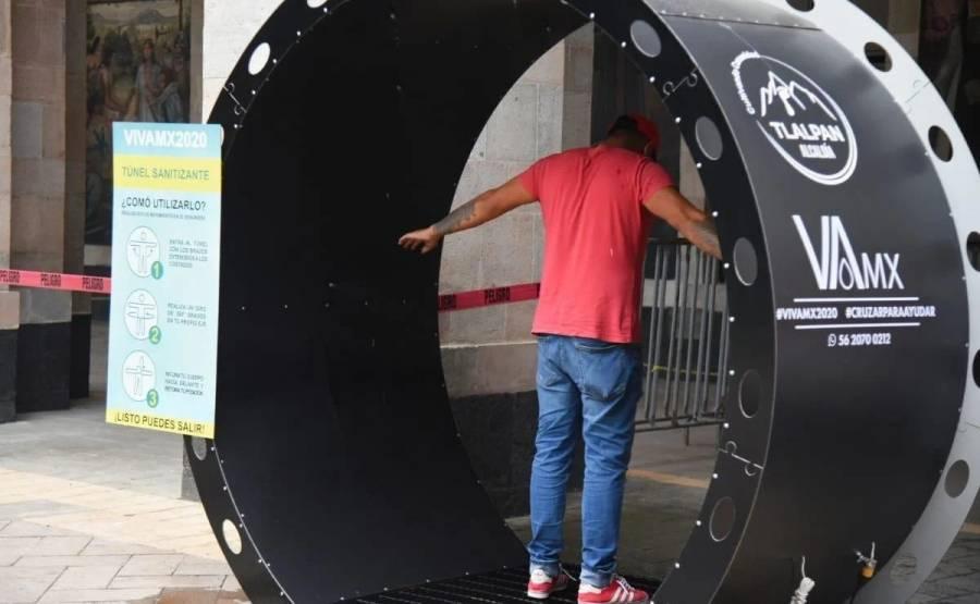 Ratifica López-Gatell que túneles sanitizantes son un riesgo de propagación de virus