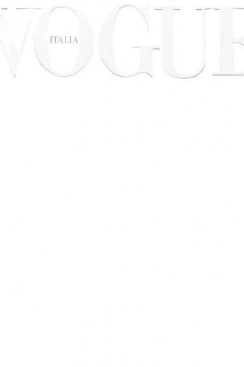 Vogue Italia publica portada en blanco por primera vez en su historia