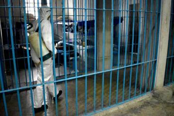 SECGOB realiza sanitización en Centros Penitenciarios de la capital