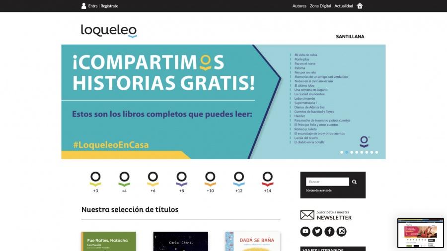 Santillana habilita lecturas online y regala libros por cuarentena