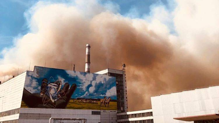 Incendios forestales se acercan a depósitos radioactivos de Chernóbil