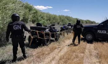 Guardia Nacional y Patrulla Fronteriza detectan escalera para cruce de migrantes