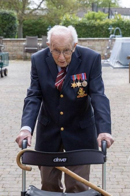 Veterano de guerra de 99 años hace reto para recaudar fondos y combatir coronavirus