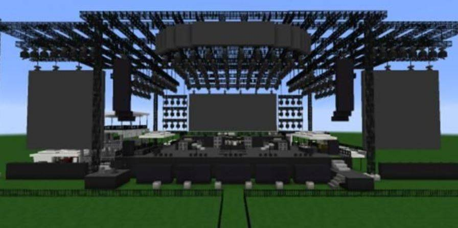 Festival de música en Minecraft