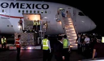Se aproxima el tercer vuelo con insumos médicos de China