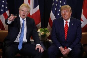 Trump y Johnson, impulsarán estrategia conjunta contra pandemia