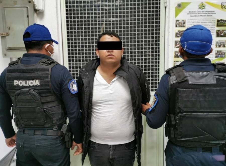 Detienen en Cuajimalpa a sujeto que golpeó a su esposa