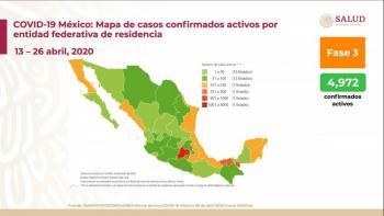 Se eleva 14 mil 677 casos y mil 351 defunciones en México por Covid-19