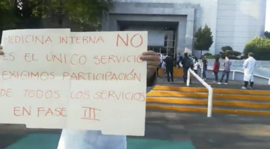 Protesta por escasas de personal en el Gabriel Mancera del IMSS