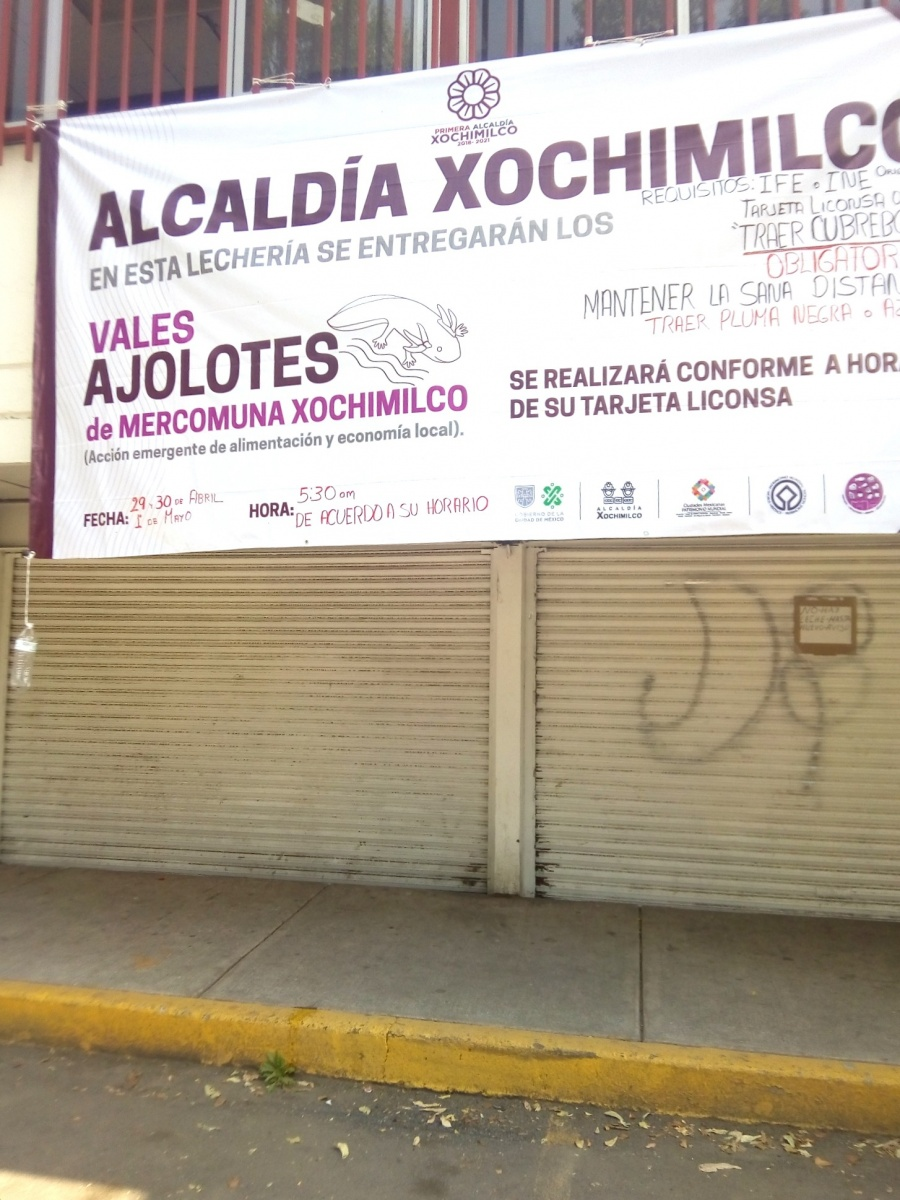 Xochimilco inicia entrega  de vales por coronavirus