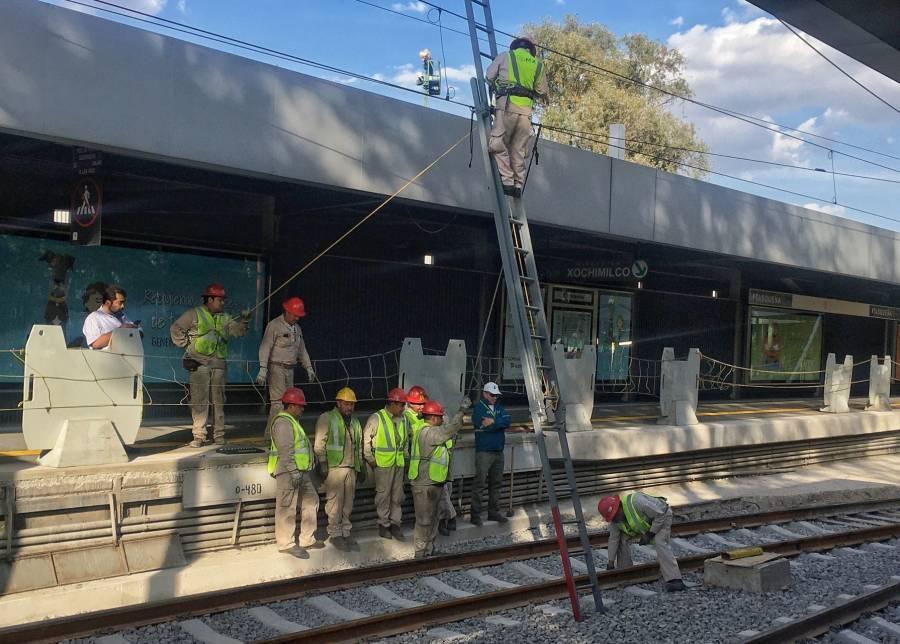 Inician trabajos de mantenimiento en vías del Tren Ligero