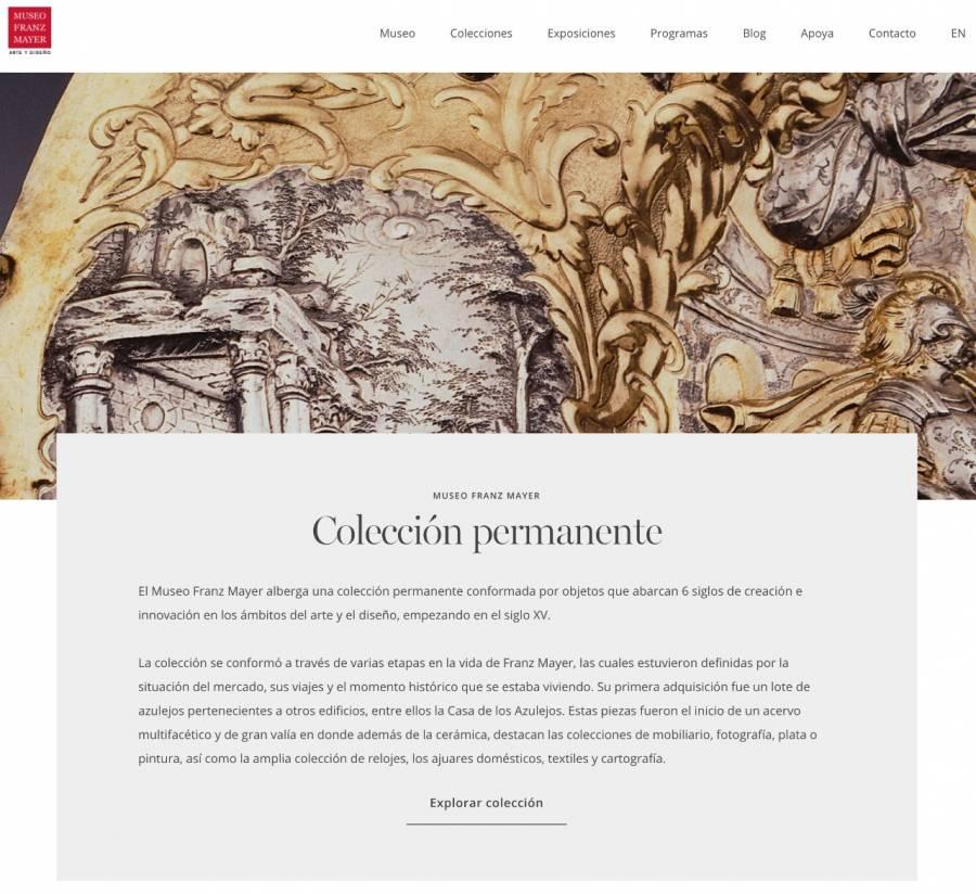 Museo Franz Mayer remodela su página en línea