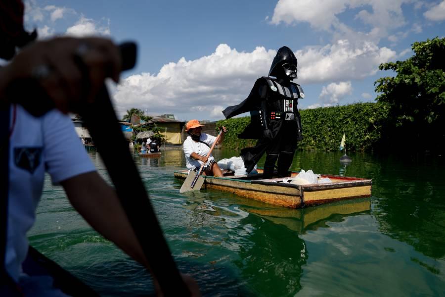 Darth Vader hace cumplir la cuarentena en un pueblo de Filipinas