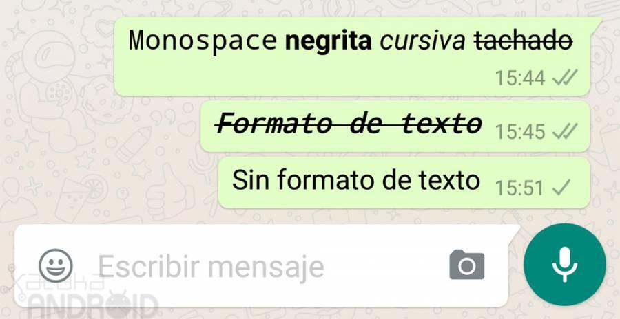 Cómo usar diferentes estilos de letra en WhatsApp