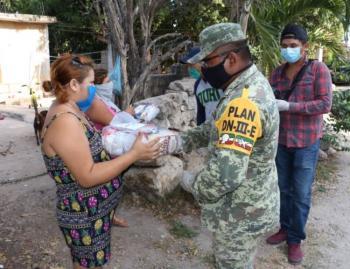 Sedena destaca entrega de despensas para afectados por Covid-19