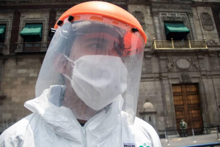 Sanitizan zonas de alto riesgo en Magdalena Contreras