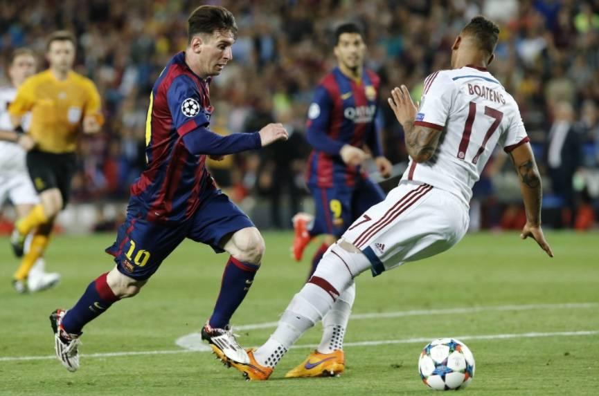 Boateng responde a burlas por jugada contra Messi