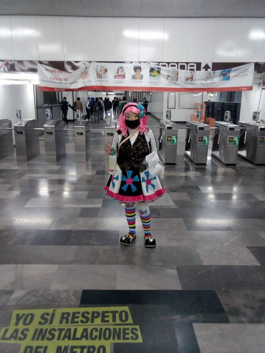 Con payasos sensibilizan sobre Covid en el Metro