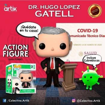 Sale funko de López Gatell