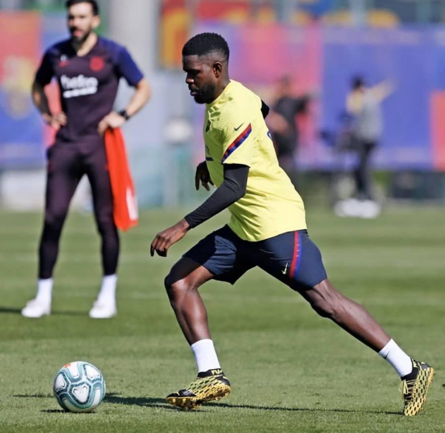 Samuel Umtiti, primer lesionado del Barcelona tras confinamiento