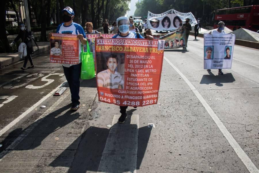 Madres marchan en su día por los desaparecidos