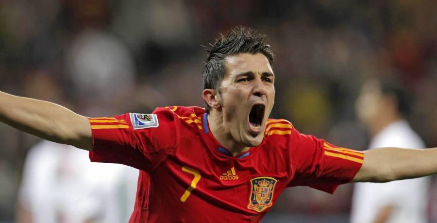 David Villa negó que quisiera de salir del Valencia cuando lo vendieron al Barcelona