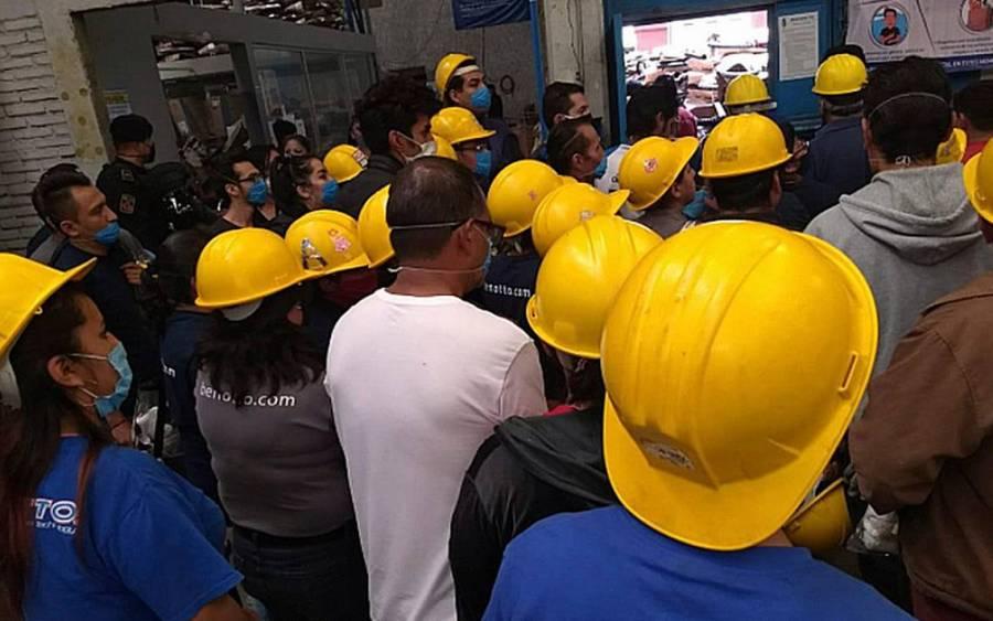 Benotto esconde 350 empleados durante la inspección por pandemia en la CDMX