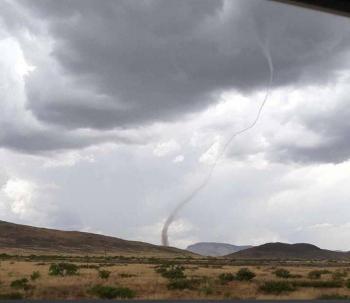 Se registra tornado en carretera de Chihuahua a Ciudad Juárez