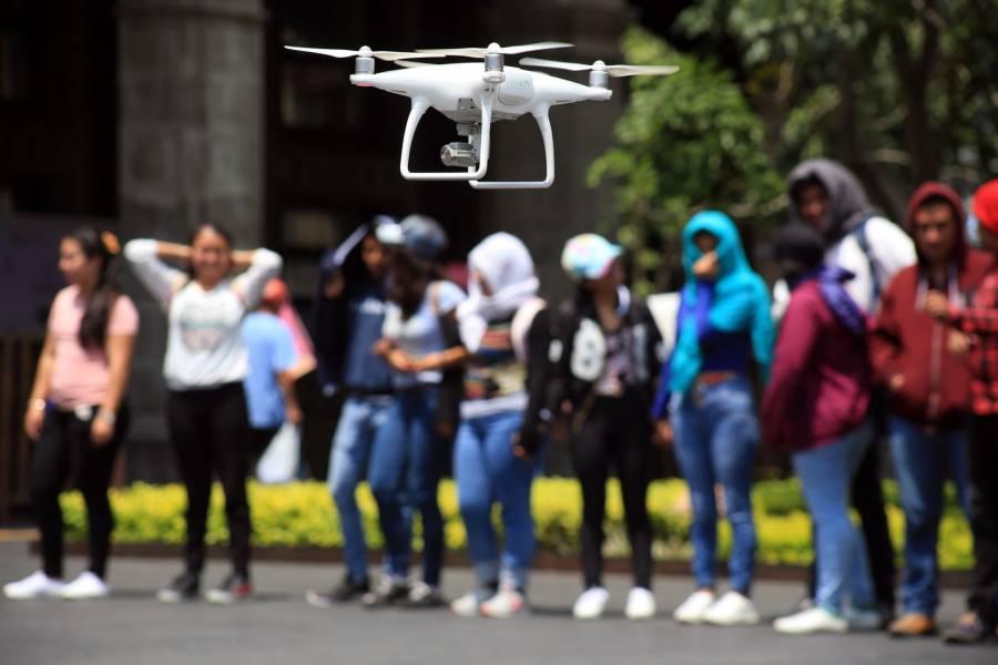 Drones desinfectarán zonas de la Ciudad de México por Covid-19