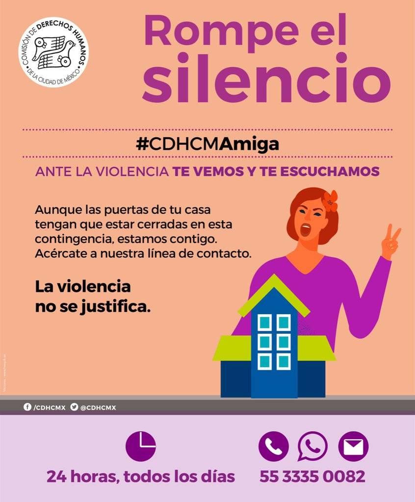 La CDHCM pone línea telefónica para atender violencia.,