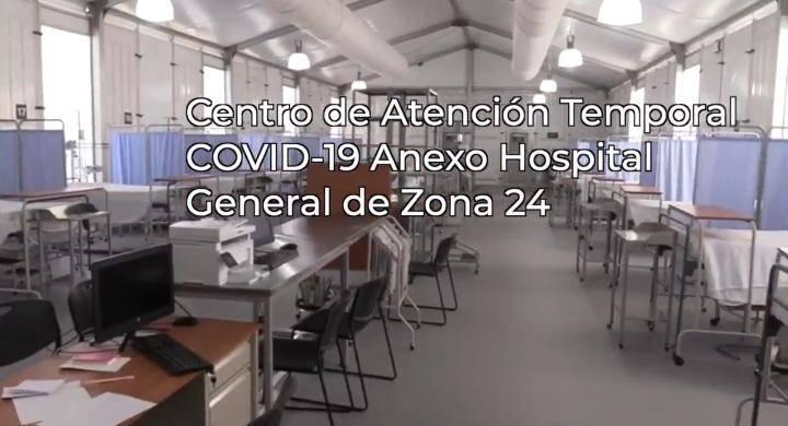 Dos pacientes llegan al nuevo hospital del IMSS en la Subdelegación Norte en CDMX