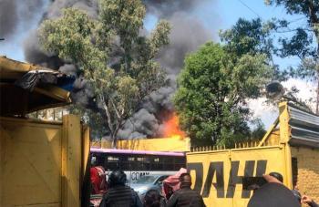 Incendio en Miguel Ángel de Quevedo y Calzada Tlalpan
