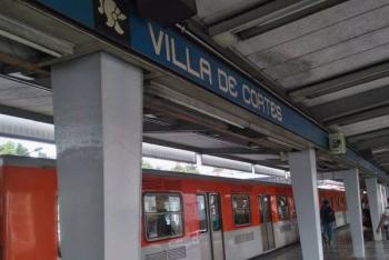 Video: Frustran intento de suicidio de hombre en metro Villa de Cortés de la CDMX