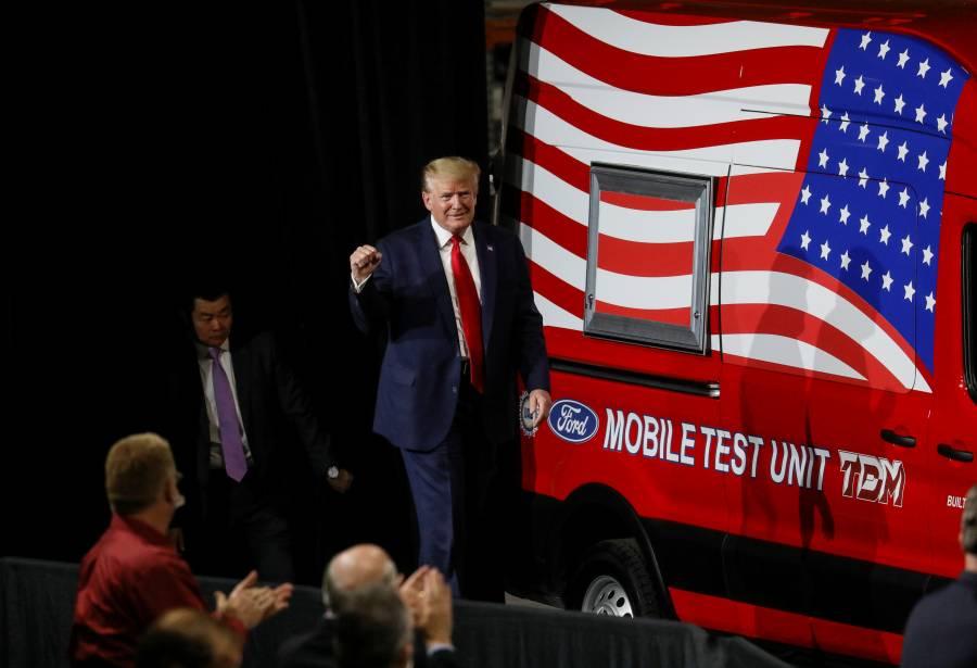 Trump realizaría actos de campaña al aire libre