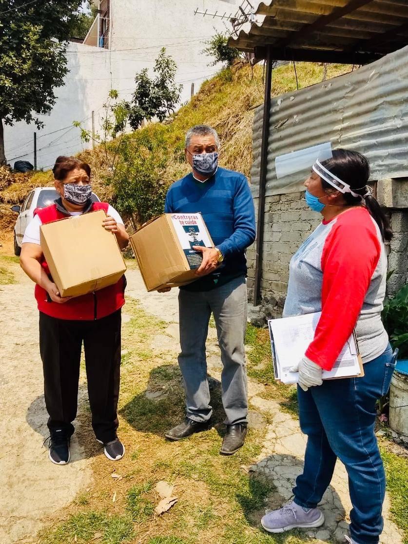 REPARTEN 80 MIL KITS DE ALIMENTOS A CASAS DE FAMILIAS POBRES, EN M. CONTRERA