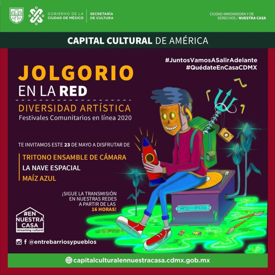 Jolgorio en la Red, evento sabatino imperdible