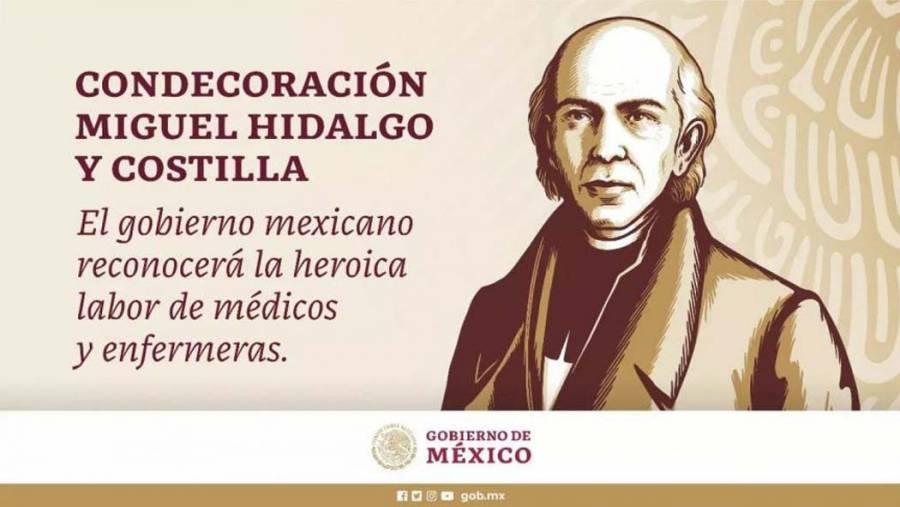Otorgarán condecoración Miguel Hidalgo a personal de la salud