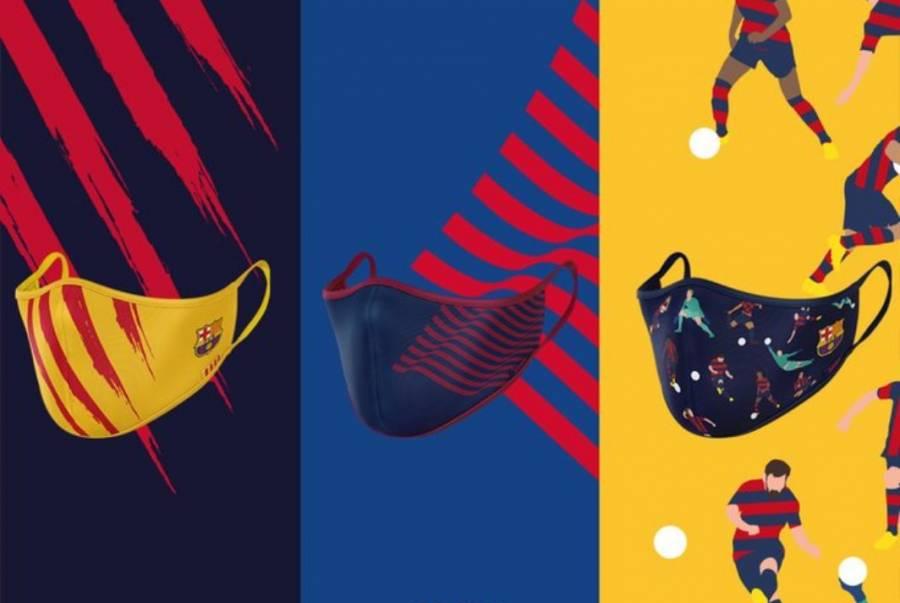 Barcelona presenta su línea de cubrebocas