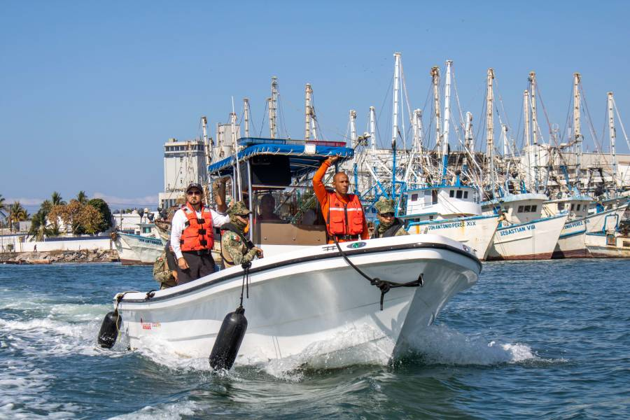 Conapesca refuerza tareas de inspección y vigilancia en aguas nacionales
