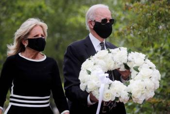 Joe Biden reaparece en el Memorial Day