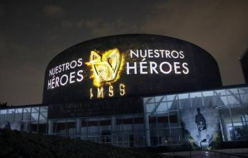 Montan mural en honor a los héroes de las unidades médicas y hospitalarias del IMSS