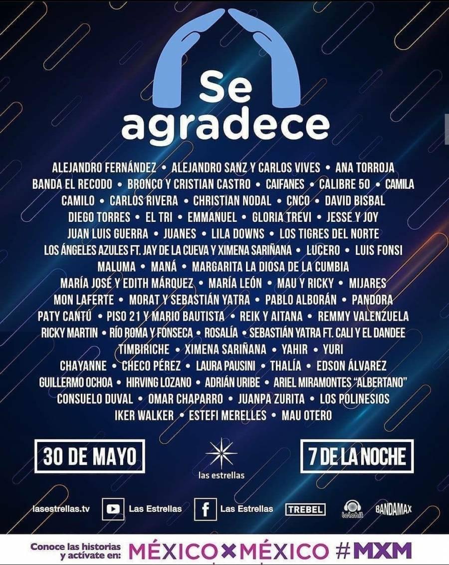 "Cartel del festival ""Se agradece"""