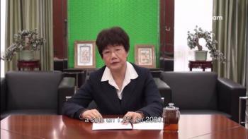 """Durante """"El Aleph"""", Wu Hongying indicó que la falta de vacunas provocara catástrofe"""