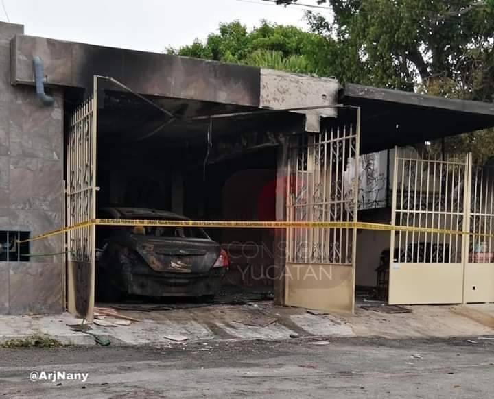 Agreden a enfermera en Yucatan, incendian su casa y auto