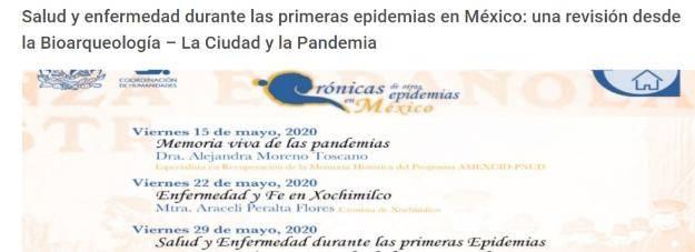 Primeras Epidemias de México, conferencia desde la Bioarqueología