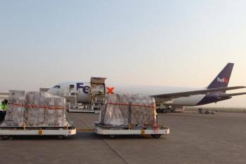 Llegó esta mañana el cuarto vuelo del puente aéreo EE UU-México con ventiladores