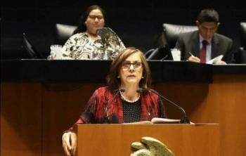 Senadora Malú Micher ofrece disculpas por descuido en reunión de Zoom