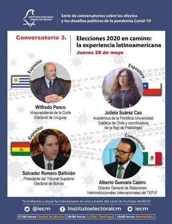 Analizan especialistas internacionales retos de los órganos electorales frente a la pandemia