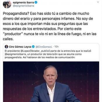 Epigmenio Ibarra y Ciro Gomez Leyva pelean en Twitter