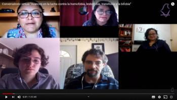 """IECM organiza conversatorio virtual: """"Avances en la lucha contra la Homofobia, Lesbofobia, Bifobia y Transfobia"""""""